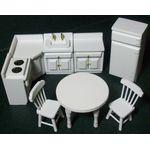 1:24 Kitchen Set White