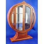 'Swanson' Round Display Cabinet (123Diam x 166Hmm) By Bespaq