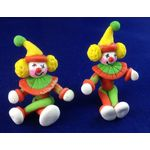 Clown with Earmuffs Red (Price Each) (25mmT)