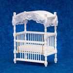 "Canopy Crib, White (6.75""H x 4.625""W x 2.75""D )"