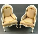 Armchair Hand Painted Taupe by Petite Romantique (Price Each)