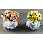 Roses in Blue/White Jugs (Price Each) by Petite Romantique