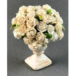 White Roses in an Urn by Petite Romantique