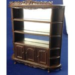 1:24 Carved Display Shelving Walnut by Bespaq (95 x 19 x 108Hmm)