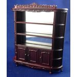 1:24 Carved Display Shelving Mahogany by Bespaq (95 x 19 x 108Hmm)