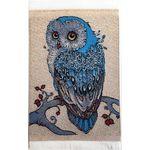 Small Owl Turkish Woven Rug (15 x 10cm)