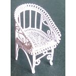 1:24 White Wire Armchair