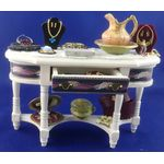 Dressed Display Table by Lynne's Minis (115W x 157H x 40Dmm)