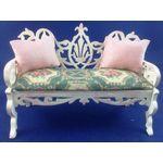Pink Garden Seat by Lynne's Minis (100W x 73H x 40mm)