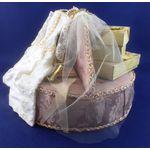 Dressed Round Silk Bridal Seat Set by Lynne's Minis (150 Diam x 110Hmm)