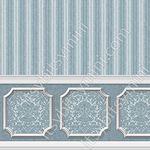 Annabelle Wainscot Mural Dark Blue Wallpaper (267 X 413mm)