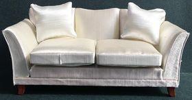 White Satin Sofa (165Wx70Hx75Dmm)