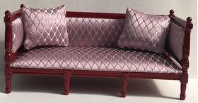 Sofa with Lilac Diamond Pattern Fabric (150Wx70Hx62Dmm)