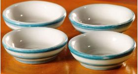"""Cornishware"" Cereal Bowls 4 Pieces (60 x 20 x 20mm)"