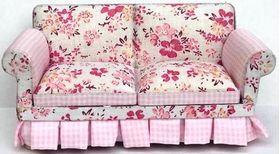 Sofa Floral Light/Dark Pink