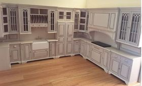 Cambridge Manor Kitchen in White Wash Finish