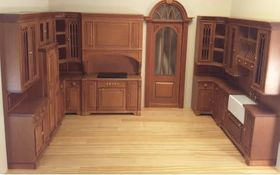 Cambridge Manor Kitchen in Cherry Finish