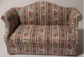 Sofa Lilac Floral Stripe (120W x 60D x 75Hmm)