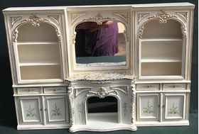 Wall Unit Cream with Floral Pattern (273Wx193Hx28Dmm)