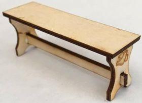 1:24 Laser Cut Church Bench Kit