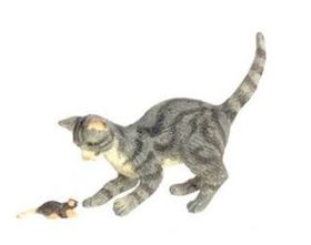 "Cat and Mouse Grey (1.25""H x 0.5""W x 1.875""D)"