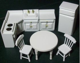 1:24 Kitchen Set White