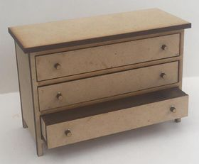 Chest of Drawers Wide Kit Laser Cut (100Wx43Dx68Hmm)