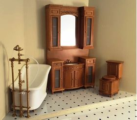 Bath Tub Shown In Cherry Set