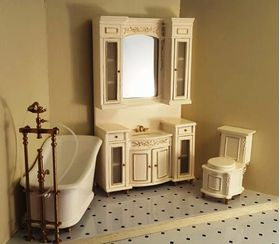 Cream Toilet Shown In Cream Set
