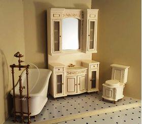 Cream Sink Unit Shown In Cream Set