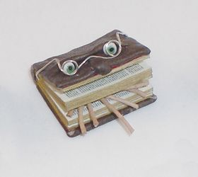 Bookworm Book by Michelle's Miniatures (Price Each)