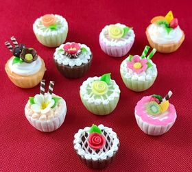 1:6 Cup Cakes (Price Each) (16mm Diam 14mmH)
