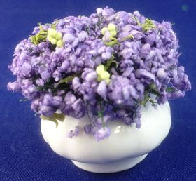 Lavender in White Pot by Petite Romantique (29H x 30mmDiam)