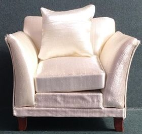 White Satin Chair (85Wx70Hx75Dmm)