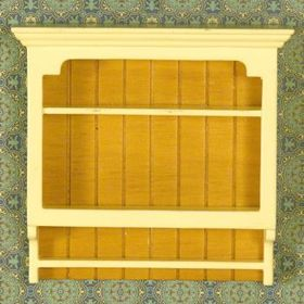 Wall Shelf Yellow and Brown Timber (84 x 89 x 25mm)