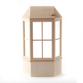 Bay Window with Roof (18cm x 11cm x 18cm)