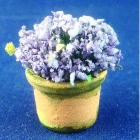 Lavender in Terracotta/Green Pot by Petite Romantique (21mmH)