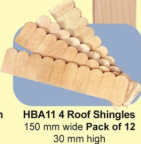 Roof Shingles Pack of 12 (150W x 30Hmm)