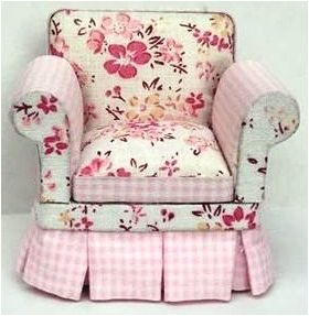 Armchair Floral Light/Dark Pink