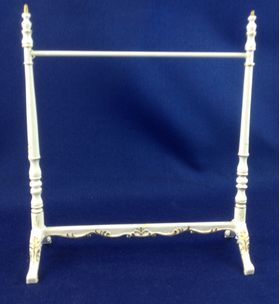 'Emporium' Clothing Rack White (115W x 46D x 130Hmm) By Bespaq