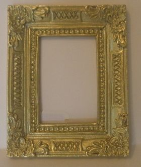 Resin Frame Gold (63 x 50 x 6mm)