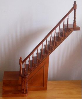 Complete Fancy Staircase Right  with turn (265mm)
