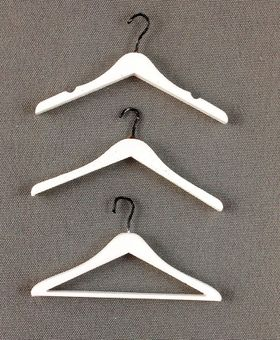 'Emporium' Coat Hangers Set of 3 White (38mmW) By Bespaq