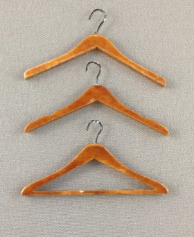 'Emporium' Coat Hangers Set of 3 Walnut (38mmW) By Bespaq