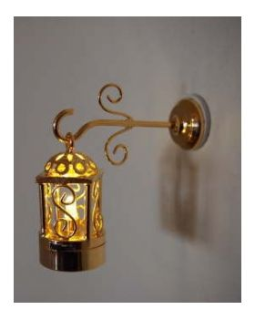 two piece brass coach wall lamp battery operated 1 1 2 h 1 2 w
