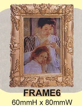 Old Masters Painting with Gilt Frame Large (60x80mm)