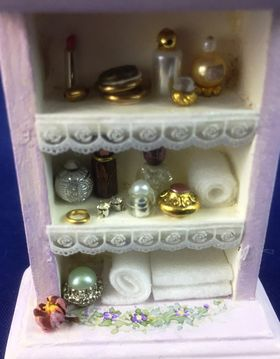 Medicine Cabinet with Bottles by Petite Romantique (56 x 24 x 75Hmm)
