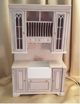 "Cambridge Manor Sink Cabinet White Wash (5-1/8"" W x 1-7/8"" D x 7-9/16"" T)"