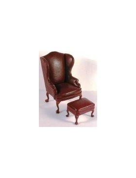 Red Leather Armchair Only (70W x 60D x 108Hmm)