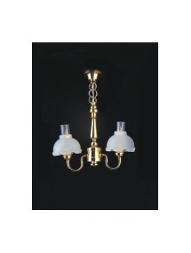 2 Up Arm Fluted Shade Chandelier (65mmH x 40mmW)